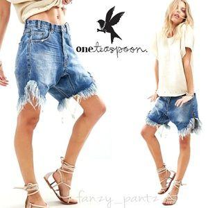 One Teaspoon shorts Frankie Low Rise Drop Crotch